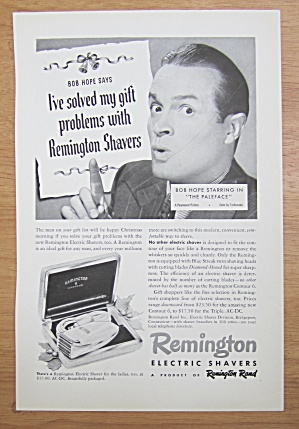 1939 Remington Electric Shaver With Bob Hope