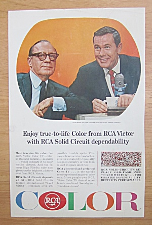 1939 Rca Victor Color Tv With Jack Benny/johnny Carson