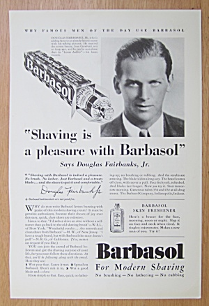 1939 Barbasol With Douglas Fairbanks Jr