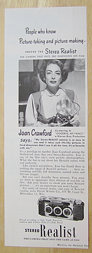 1940 Stereo Realist With Joan Crawford