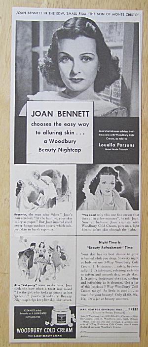 1940 Woodbury Cold Cream With Joan Bennett