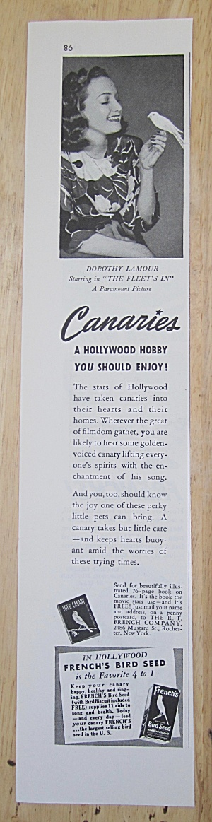 1942 Canaries With Dorothy Lamour