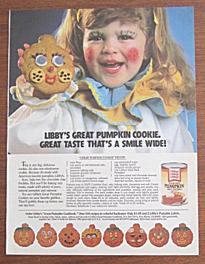 1986 Libby Solid Pumpkin With Girl Holding Cookie