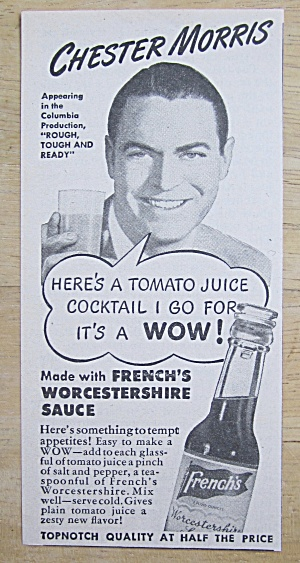 1945 French's Worcestershire Sauce W/ Chester Morris