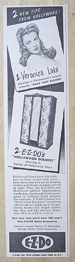 1945 E-z Do With Veronica Lake (Hollywood Duchess)