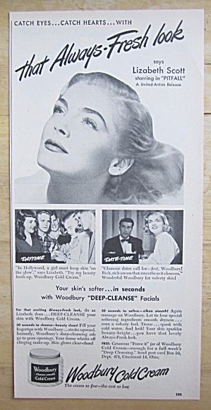 1948 Woodbury Cold Cream With Lizabeth Scott
