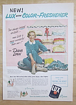 1951 Lux Soap & Flakes With Diana Lynn