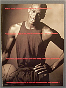 1990 Nike Basketball Shoes Ad With Michael Jordan