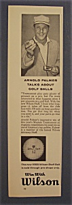 Vintage Ad: 1958 Wilson Golf Balls With Arnold Palmer