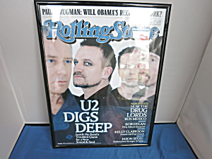 Rolling Stone U2 Digs Deep Framed Magazine Cover