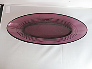 Purple Amethyst Glass Oval Dish Moderntone Match