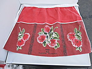 Vintage Apron Advertising Rata N Z Native Flower