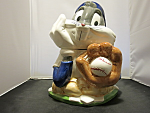 Bugs Bunny Baseball Warner Bros Cookie Jar 1993
