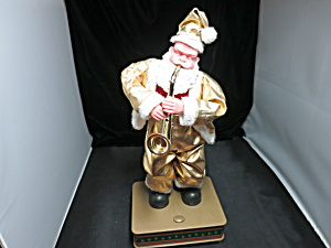 Battery Operated Santa Playing Saxophone 1990s