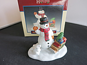 Hearthside Porcelain Snow Bunny Village Accessory