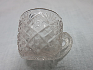 Miniature Pressed Glass Punch Cup Childs Play