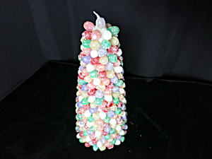 Vintage Gum Drop Tree Wax Candle Christmas Tree