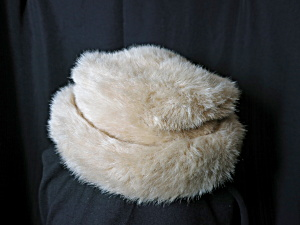 Betmar New York Faux Fur Hat Beige