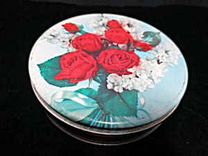 Rose Round Tin Confections Candy