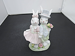 Home Interiors Easter Finery Bunny Rabbit Figurine