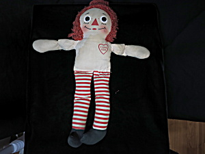 Vintage Knickerbocker Raggedy Ann Cloth Doll 15 Inch