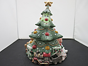 Fitz And Floyd Wee Christmas Tree Cookie Jar