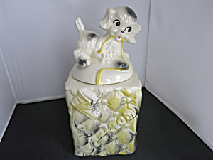 American Bisque Puppy Dog Tucked Pillow Cookie Jar