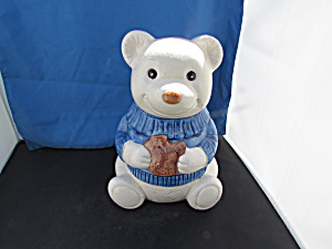 Bear Poppy Trail Artwork Metlox Pottery Cookie Jar 1978
