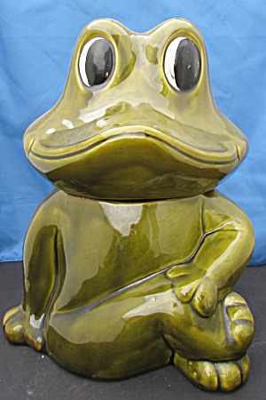California Originals Frog Cookie Jar 906 Usa