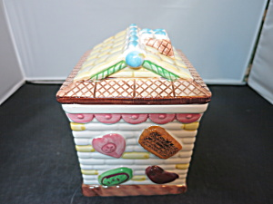 Cookie House Cookie Jar Biscuit Cracker Jar