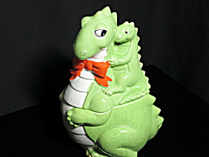 Japan Dragon Dinosaur Cookie Jar