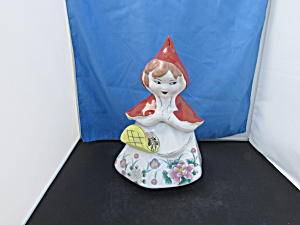 Red Riding Hood Cookie Jar Early 1950s Reproduction