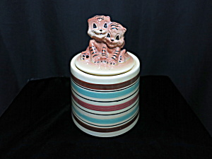 Robinson Ransbottom Tiger Cubs Cookie Jar Roseville