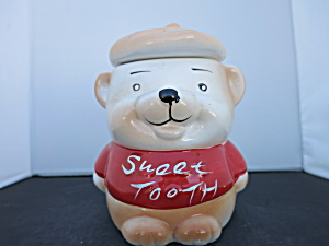 Sweet Tooth Bear Cookie Jar Biscuit Jar 1970s