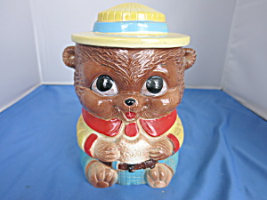 Vintage Ranger Bear Cookie Jar Rare Find