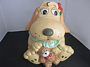 Pound Puppies Nose Rose Cookie Jar Tonka 1987