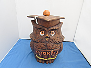 Owl Graduate Treasure Craft Cookie Jar Made In Usa