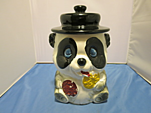 Panda Bear Cookie Jar Made In Japan Rare Find