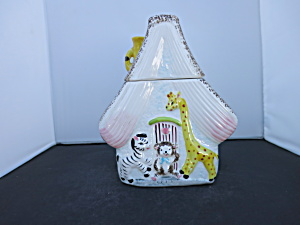 Animal Zoo Cottage House Cookie Jar Zebra Bear Giraffe