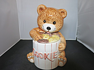 Welcome Taiwan Teddy Bear Cookie Jar