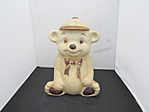Treasure Craft Bear Cookie Jar Tan 1970s Usa