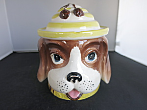 Vintage Dog Cookie Jar Biscuit Jar Cracker Jar