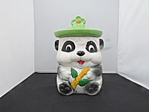 Panda Bear With Bamboo Japan Cookie Jar