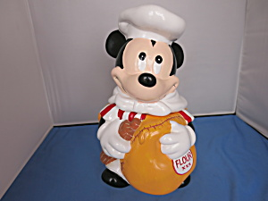 Mickey Mouse With Flour Sak Cookie Jar Disney Hoan