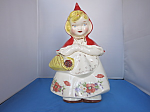 Hull Pottery Little Red Riding Hood Cookie Jar 1940s