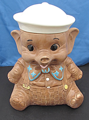 Twin Winton Sailor Elephant Cookie Jar