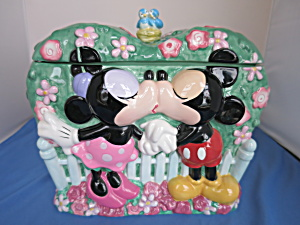 Disney Mickey Mouse Minnie Mouse Valentine Cookie Jar