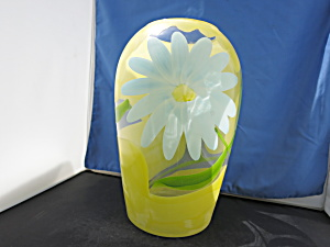 Hand Painted Floral Vase Unsigned Large Vase