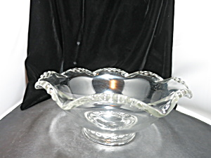 Vintage Flared Rim Bowl With Candlewick Rim 10 1/2in