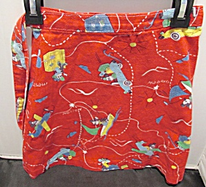 Vintage Girls Mickey Mouse Wrap Around Skirt